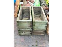 Wooden planters x 4