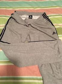 Adidas Grey towel Track Pants. *** Exc condition***
