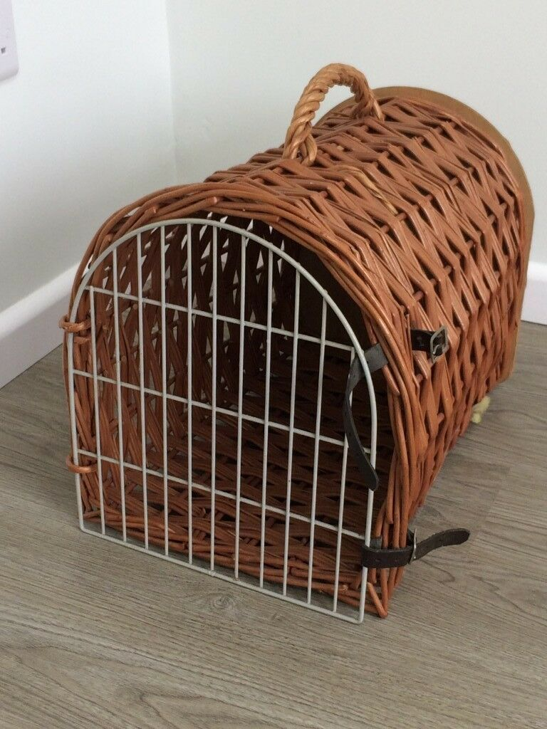 Wicker Cat Carrier Basket Good Condition In Churchdown