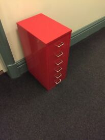 Red storage table