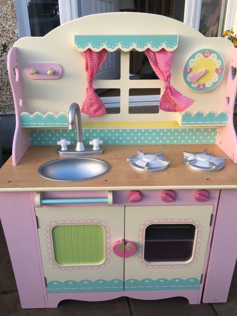 ELC wooden cottage kitchen plus large bundle of accessories