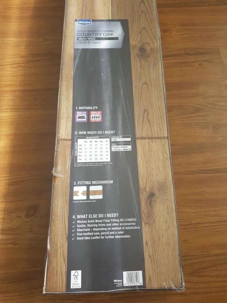 30 Packs Wickes Country Oak Solid Wood Flooring Brand