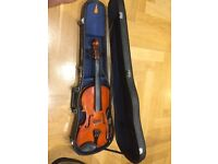 Violin and case (1/2 size, we think!)