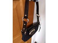 Genuine Guess Handbag, black patent leather shoulder strap, as new