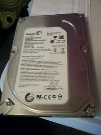 Sata 250 GB Seagate HDD. hardly used since purchased.
