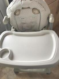 High chair and baby seat