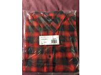 Mens casual check shirt longsleeve from new look size med