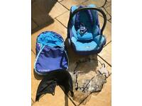 Bugaboo bee stroller and maxi cosy and accessories with both