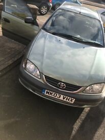 Toyota avensis 1.8 with Long Mot 02/2019/Starts and Drives without any issues.Great family car