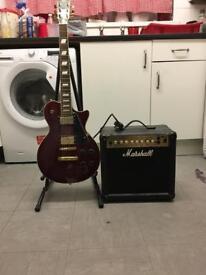 Electric guitar & marshall amp