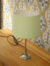 TABLE LAMP stainless steel with green shade