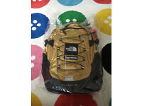 Supreme X TNF Gold Backpack Rucksack DEADSTOCK WITH TAGS
