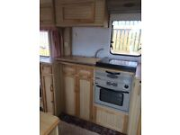 Elddis caravan roomy 2 berth