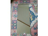 Plain screw to wall mirror 46cm x 120cm