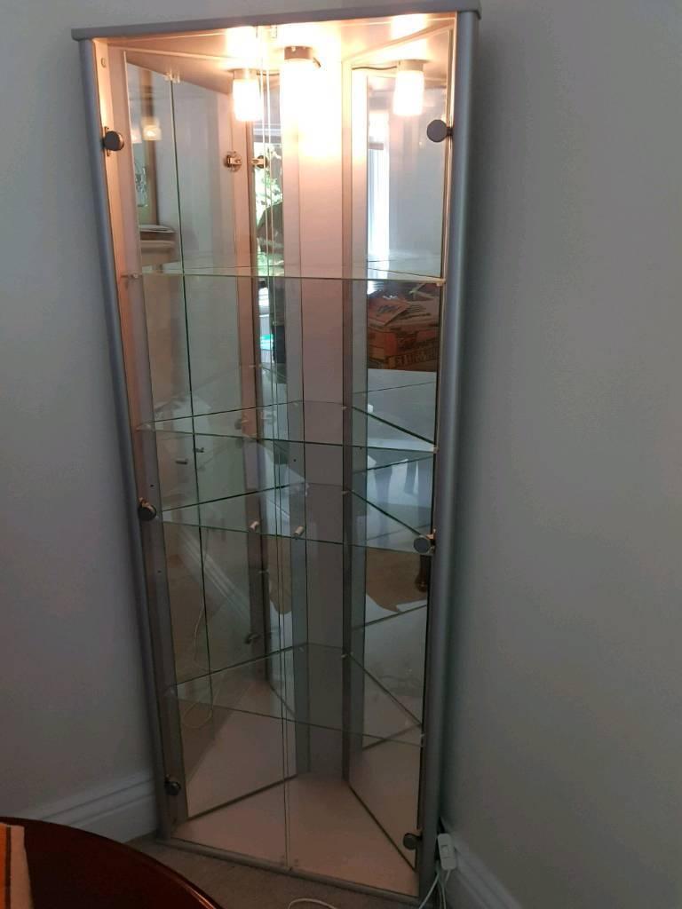 Silver coner display cabinet