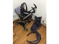Quinny Zapp pushchair with Maxi cosi pebble car/ 2 in 1
