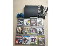 Playstation 3 console with 12 games