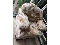 Comfy Armchair with matching storage footstool