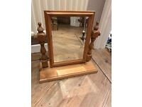 Beautiful Solid Pine Framed Dressing Table Mirror