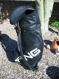 Ping soft leather golf bag black in excellent condition