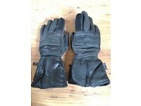 Motor bike black gloves