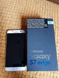 Samsung Galaxy S7 Edge - 32gb White Pearl perfect condition