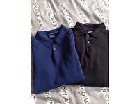 2 x Next polo shirts
