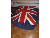 Large Union Jack Foot stool/ Pouffe