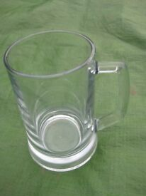 Large Crystal Glass Beer Mug