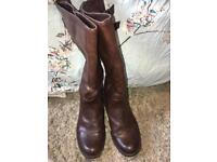 Clark's Mid Length Leather Boots
