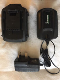 18v qualcast battery replacement with charger for hedge trimmer (few models )