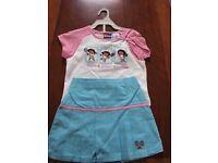 Brand New Dora the Explorer Tennis Wimbledon Skirt Top Tshirt set size 3T and 4T