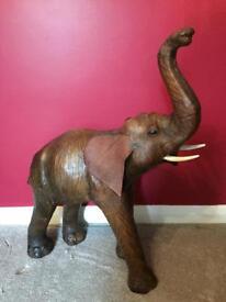 Large vintage leather elephant