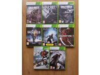 Xbox 360 Games Bundle. 8 Games. Call of Duty, Watch Dogs, Skate 3, Halo 4 etc
