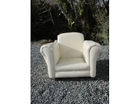 Faux leather childs armchair