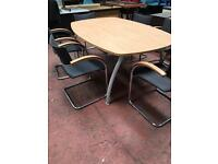 Boardroom/ Conference Table & 6 Chairs Set
