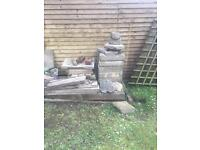 Free for collection - 3 Concrete Sleepers and selection of Breeze Blocks and Slabs.