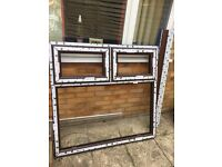 UPVC FRENCH DOOR AND WINDOW WITH CILL * BRAND NEW NEVER BEEN USED - ROSEWOOD COLOUR