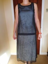 Evening Outfit -Skirt & Top with Chiffon Effect finish,Top size 12,skirt size 14