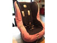 Brittax pink and denim car seat