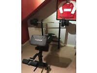 Maxi muscle weights bench set