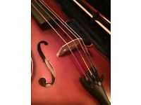 Violin / Viola with rest, hardcase and two bows