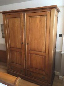 Beautiful Waring and Gallow oak wood wardrobe for sale