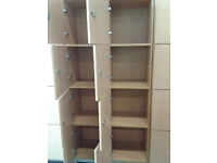 Office storage lockers (8 section sets)