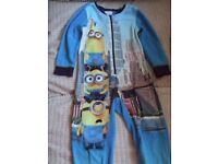 MINIONS Fleece Pyjama Onesie - BOYS 4-5 Years