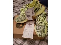 Authentic yeezy boost 350 frozen yellow size 8.5 brand new unopened comes with receipt