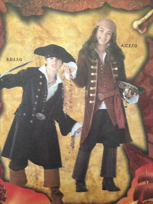 Simplicity Sewing Pattern 3644 Boys Girls Pirate Disney Jack Sparrow Size 7-14 - Jack Sparrow Girl Costume