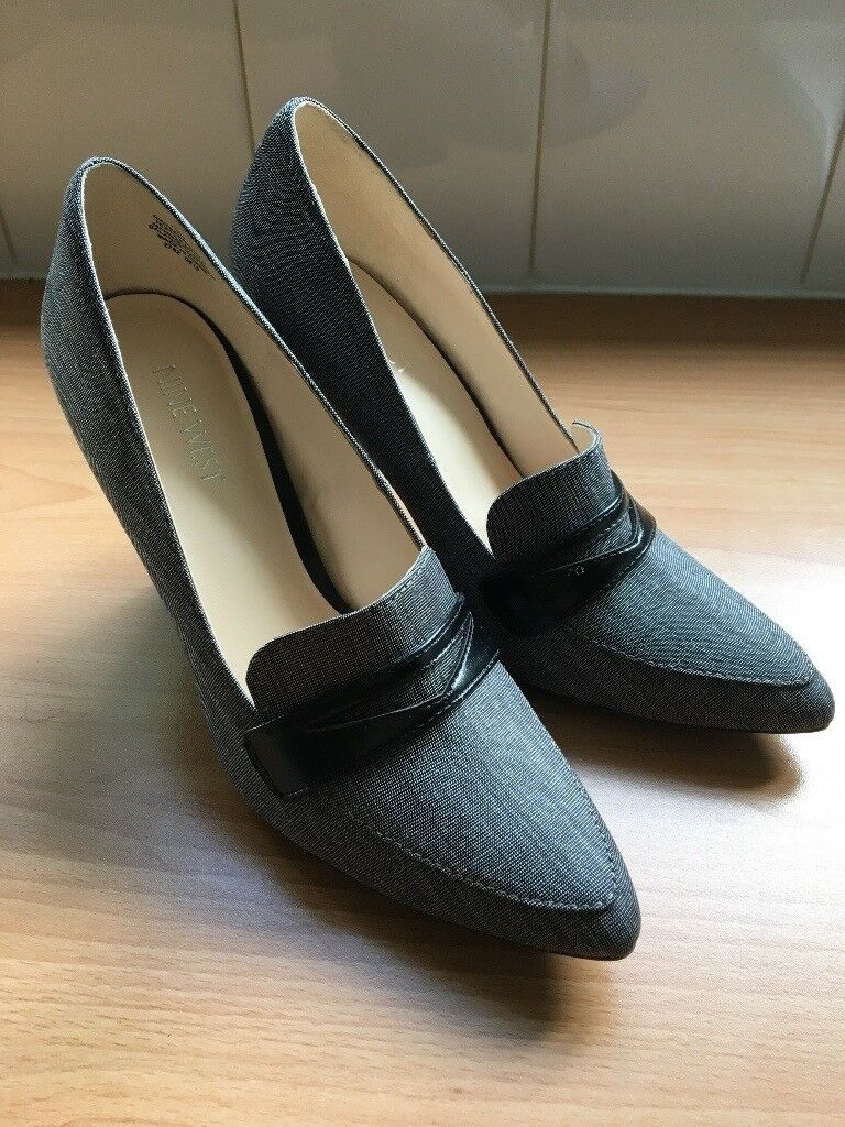 Women Nine West Heels Shoes Grey Black