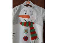 Snowman baby grow brand-new