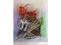 Box of drill bits and hooks for sale